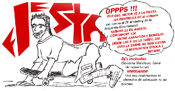 sketch flyer fiesta by elnorberto 2009